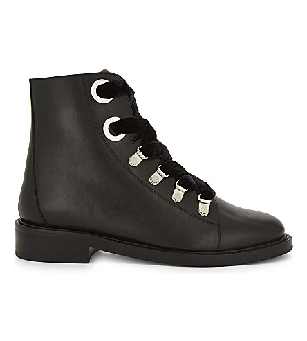 CLAUDIE PIERLOT Aramis leather boots (Noir