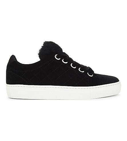 CLAUDIE PIERLOT Azur Bis quilted velvet trainers (Noir