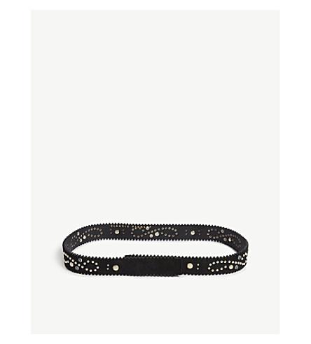 CLAUDIE PIERLOT Avegas suede belt (Black