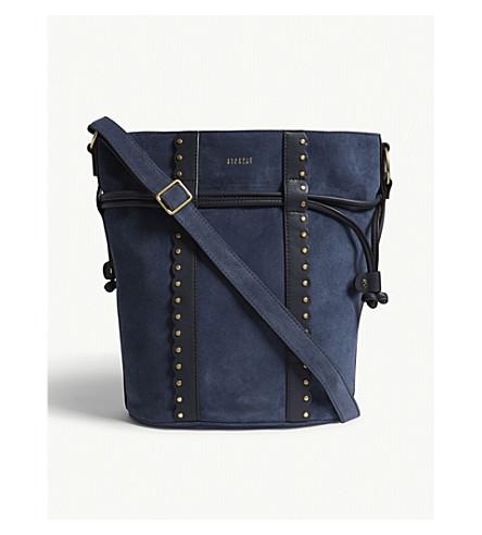 CLAUDIE PIERLOT Amarillo suede bucket bag (Blue