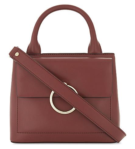 CLAUDIE PIERLOT Anouck small leather shoulder bag (Brick