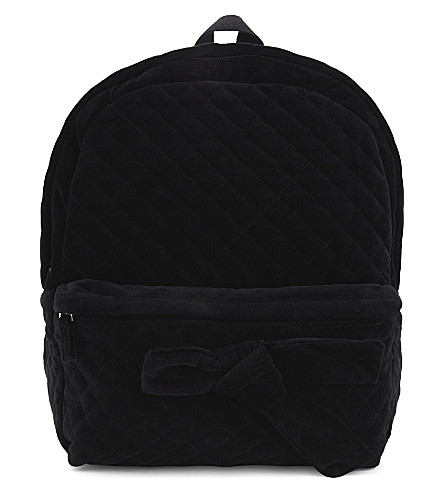 CLAUDIE PIERLOT Above quilted velvet backpack (Noir