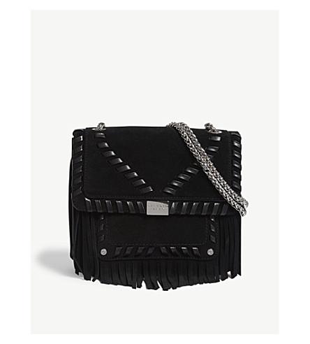 CLAUDIE PIERLOT Angela suede cross-body bag (Black