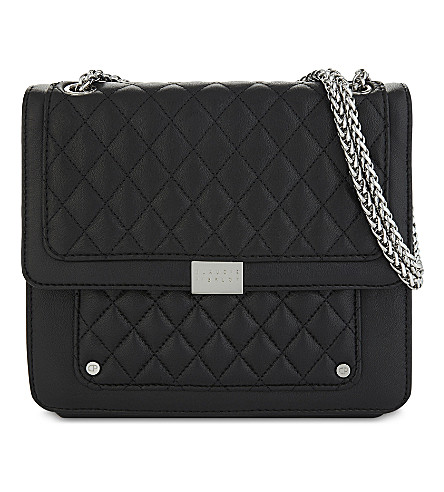 CLAUDIE PIERLOT Angela quilted shoulder bag (Noir