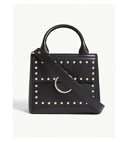 CLAUDIE PIERLOT Anouck studded leather shoulder bag (Black