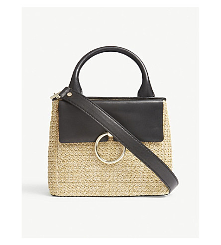 CLAUDIE PIERLOT Anouck small woven tote (Cream