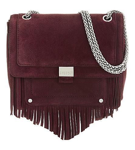 CLAUDIE PIERLOT Angela suede shoulder bag (Bordeaux