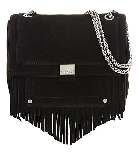 CLAUDIE PIERLOT Angela suede shoulder bag (Noir