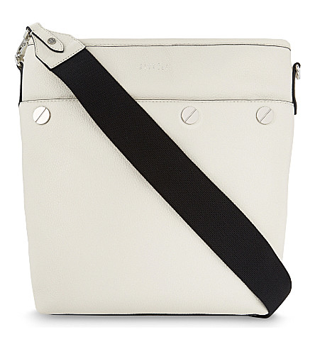 CLAUDIE PIERLOT Aurely grained leather shoulder bag (Blanc