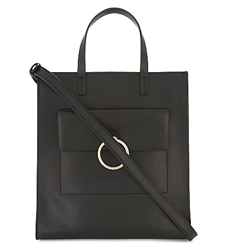 CLAUDIE PIERLOT Anouck leather tote bag (Noir