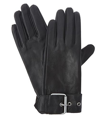 CLAUDIE PIERLOT Amoto lambskin gloves (Noir