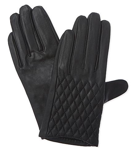 CLAUDIE PIERLOT Acaro lambskin gloves (Noir