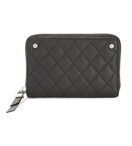 CLAUDIE PIERLOT Answer quilted leather wallet (Noir
