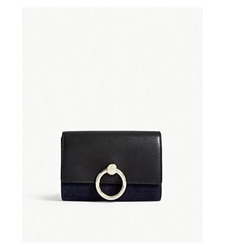 CLAUDIE PIERLOT Amaretto suede leather wallet (Black