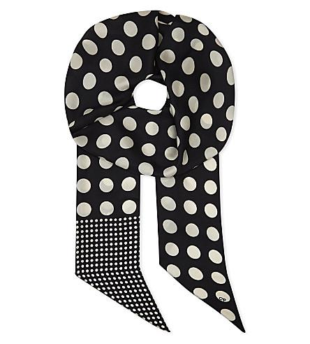 CLAUDIE PIERLOT Adots Bis silk scarf (Noir