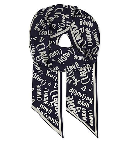 CLAUDIE PIERLOT Aclaudie silk scarf (Marine