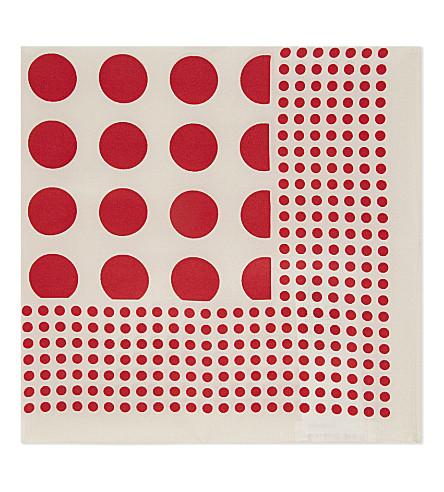 CLAUDIE PIERLOT Adots silk scarf (Rouge
