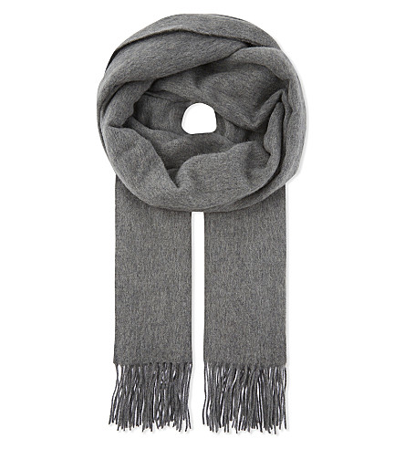 CLAUDIE PIERLOT Alaska virgin wool scarf (Gris+clair