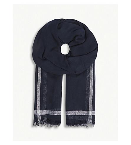 CLAUDIE PIERLOT 金属条纹围巾 (蓝色