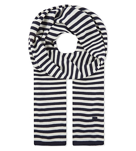 CLAUDIE PIERLOT Aurel striped scarf (Marine