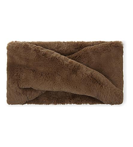 CLAUDIE PIERLOT Acolie Bis faux-fur closed scarf (Beige