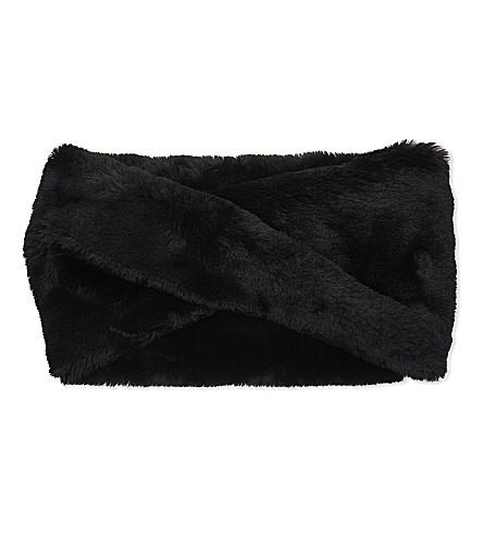 CLAUDIE PIERLOT Faux-fur closed scarf (Noir