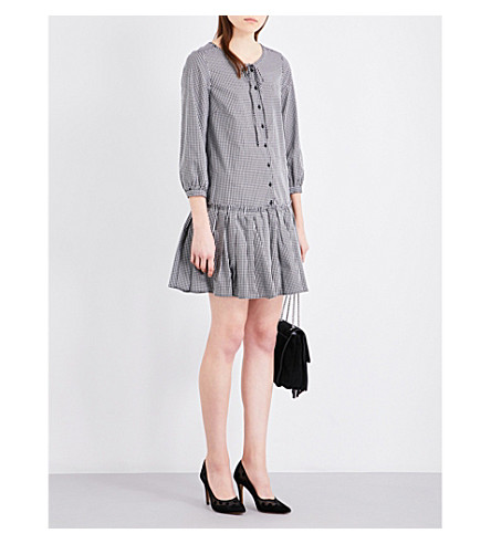 CLAUDIE PIERLOT Randy gingham dress (Ecru