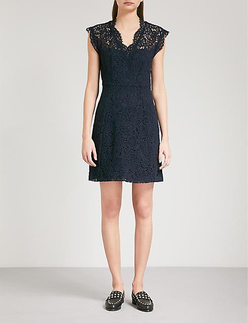 CLAUDIE PIERLOT V-neck floral-lace dress