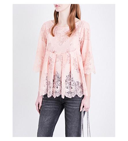 CLAUDIE PIERLOT Babette lace top (Poudre
