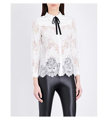 CLAUDIE PIERLOT Cachou lace shirt (Ecru
