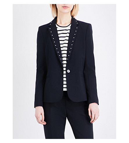 CLAUDIE PIERLOT Vacances woven jacket (Marine