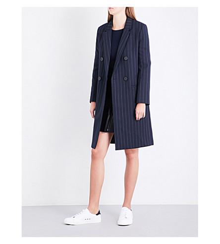 CLAUDIE PIERLOT Manteau woven coat (Marine
