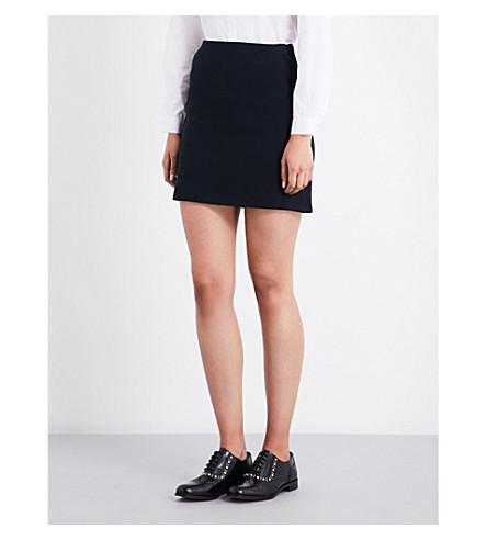 CLAUDIE PIERLOT Sarah mid-rise woven mini skirt (Marine