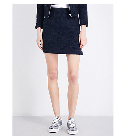 CLAUDIE PIERLOT Sidonie tweed mini skirt (Marine