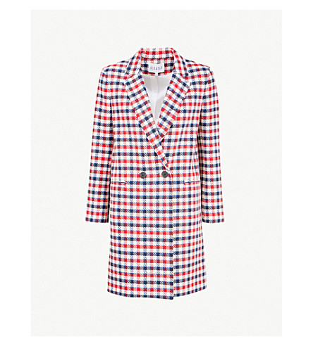 CLAUDIE PIERLOT Glossy checked woven coat (Multico