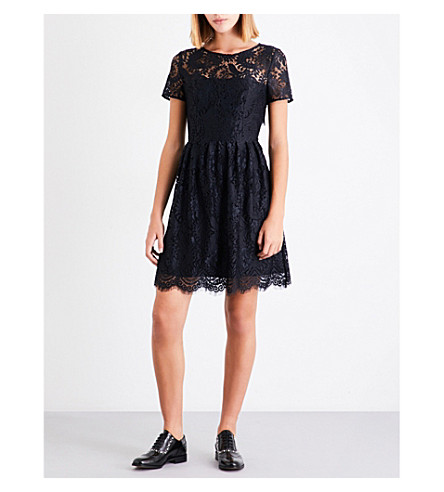 CLAUDIE PIERLOT Repeat floral lace dress (Noir