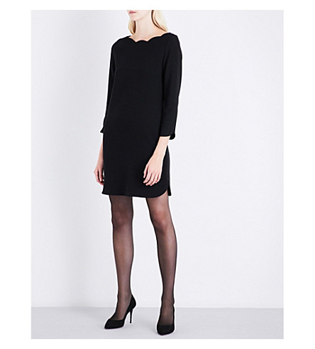 CLAUDIE PIERLOT Rover scalloped crepe dress (Noir