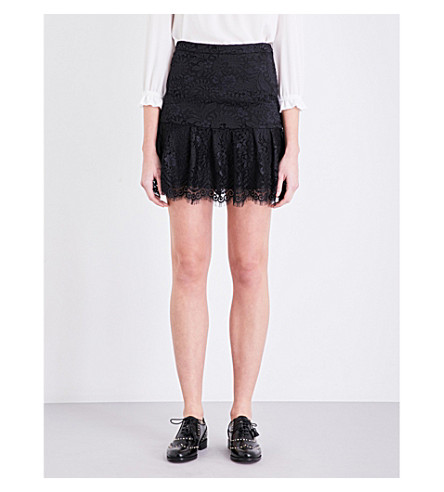 CLAUDIE PIERLOT Sonny lace skirt (Noir