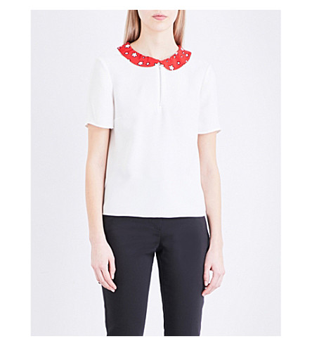 CLAUDIE PIERLOT Barba crepe top (Ecru