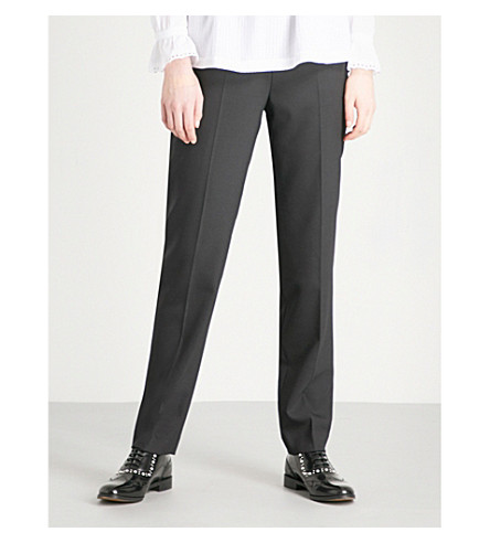 CLAUDIE PIERLOT Passion tapered woven trousers (Black