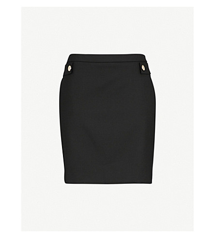 CLAUDIE PIERLOT Sico stretch-wool mini skirt (Black