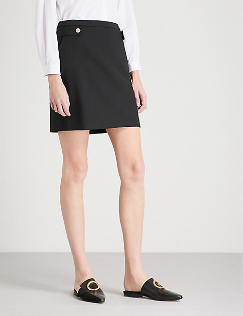 CLAUDIE PIERLOT Sico stretch-wool mini skirt