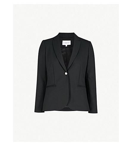 CLAUDIE PIERLOT Notch-lapel wool-blend blazer (Black