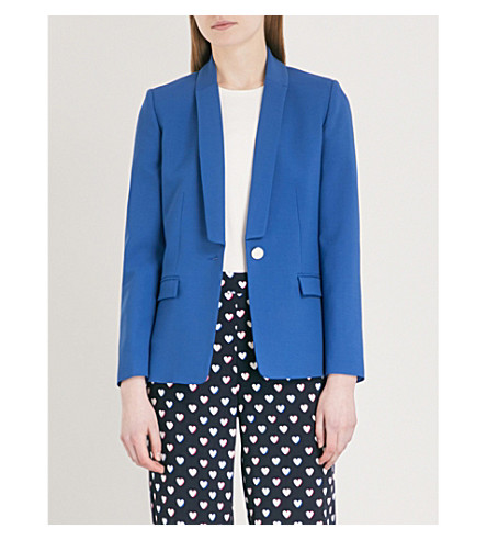 CLAUDIE PIERLOT Slim-fit wool-blend blazer (Orange