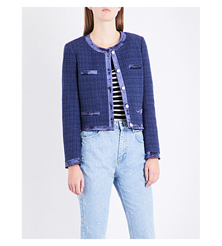 CLAUDIE PIERLOT Cropped tweed jacket (Outre+mer
