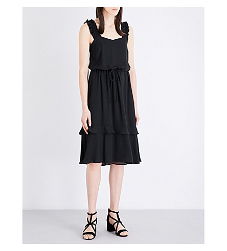 CLAUDIE PIERLOT Riviere crepe dress (Noir