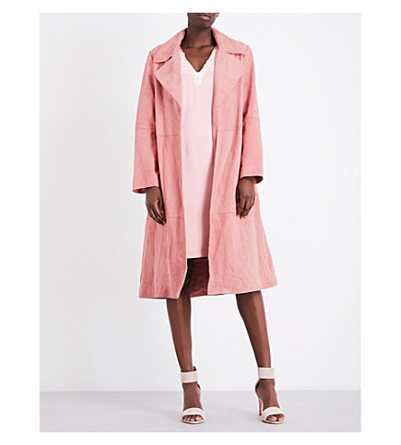 CLAUDIE PIERLOT Guimauve suede coat (Rose