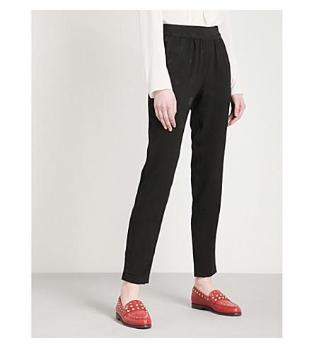 CLAUDIE PIERLOT Porto Bis floral-jacquard trousers (Black