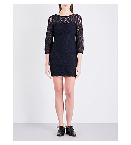 CLAUDIE PIERLOT Rebond lace dress (Marine