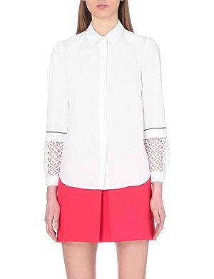 CLAUDIE PIERLOT Laser-cut cotton shirt
